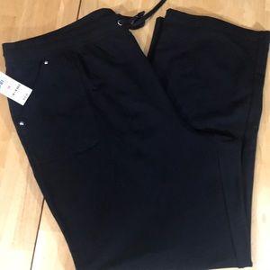 NWT Black Lounge Pants with Decorative Pockets